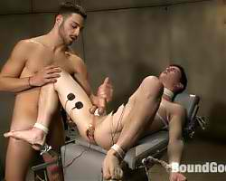 Gay twinks in bondage